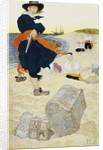 Pirate William Kidd buries treasure on Gardiner's Island by Howard Pyle
