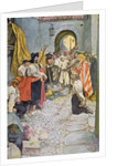 Pirates extort money from the citizens of a town by Howard Pyle