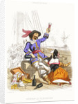 Captain Henry Morgan carouses with wine and women, in true pirate fashion by A. Catel