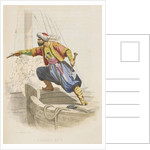 Dragut Reis, the famous Barbary corsair, prepares to board an enemy vessel in search of loot by A. Catel