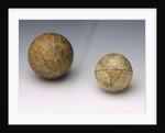 Terrestrial and celestial spheres by Johann Bernard Bauer