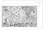 Section plate from Francesco Camocio's 'Cosmographia Universalis', 1567, taken from the atlas 'Tavole Moderne di Geografia' by unknown