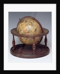 Celestial table globe, sphere and stand by Isaac Habrecht II