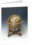 Terrestrial table globe by Guillaume de L'Isle