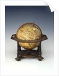 Celestial table globe by Matthaeus Seutter