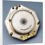 Augsburg dial, underside by Johann Martin Willebrand