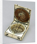 Dieppe magnetic azimuth dial, leaves Ib and IIa by unknown