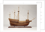 Full hull model of 'Mary Rose' (1509), a 60-gun sailing warship by Bassett-Lowke Ltd