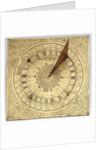 Horizontal sun and moon pedestal dial by unknown