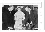Reginald Lowen MBE with Princess Elizabeth by unknown