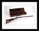 German made shotgun owned by the Sultan of  Witu (with case). by W. Foerster