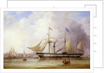 Paddle steamer 'President' in the Mersey off Liverpool by Samuel Walters