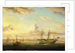 The paddle steamer Superb off Folkstone by William Adolphus Knell