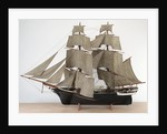 A full hull model of a Merchant sailing brig, circa 1840 by unknown