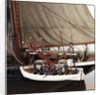 Merchantman, detail of rowing boat by unknown
