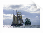 Polish brigantine 'Pogoria' chasing 'Alexander von Humboldt' on route to St Petersburg, during Gdynia Tall Ships Race 2009 by Richard Sibley