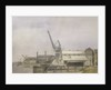 Hollick's Wharf on the Blackwall Reach of the Thames, Greenwich by Jesse Dale Cast