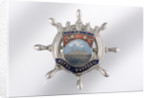 Enamelled metal brooch by unknown