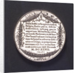 Medal commemorating the Congress of Munster, 1647; reverse by J. Looff