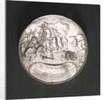 Medal commemorating the ships burnt in the Medway and Admiral de Ruyter, 1667; reverse by P. van Abeele