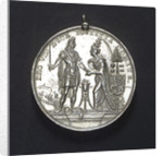Medal commemorating the landing of William of Orange at Torbay, 1688; obverse by R. Arondeaux