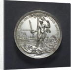 Medal commemorating the relief of Barcelona, 1706; reverse by M. Smeltzing