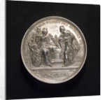 Medal commemorating preparation for war, 1742; obverse by M. Holtzhey
