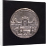 Medal commemorating warehouses built at Civitavecchia; reverse by O. Hamerani