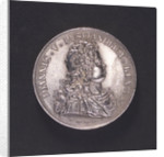 Medal commemorating action off Corfu, victory over the Turks, 1716; obverse by A. Mengin