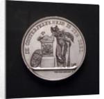 Medal commemorating the death of Lieutenant Jan Carel Josephus van Speyk, 1831; obverse by D. van der Kellen