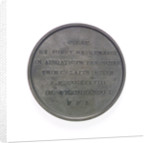 Medal commemorating the construction of the lighthouse, Port of Venice; reverse by L. Ferrari
