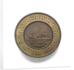 Medal commemorating Captain Faa di Bruno and the sinking of the Re d'Italia; reverse by A. Pieroni