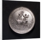 Medal commemorating the peace of Westminster, 1654; obverse by S. Dadler