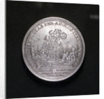 Medal commemorating the Battle of Cape Passaro and the Spanish Armada compared; reverse by G.W. Vestner