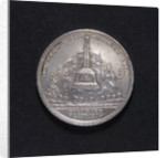Medal commemorating the Monument to the Fallen at the Battle of Copenhagen; obverse by D.F. Loos