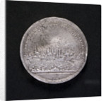 Medal commemorating the raising of the blockade of the Elbe, 1805; reverse by D.F. Loos