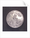 Medal commemorating the Peace of Ryswick and rejoicings at Gouda, 1697; reverse by J. Drappentier