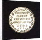 Counter commemorating peace with the Barbary pirates, 1795; reverse by Francesco Zane