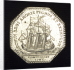 Medal commemorating the presentation to King Louis XV of an eighty-gun ship; reverse by J.C. Roettier