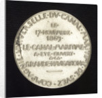 Medal commemorating the opening of the Suez Canal, 1869; reverse by O. Roty