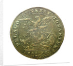 Counter commemorating the Battle of Malaga, 1704; reverse by H. Roussel