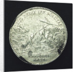 Medal commemorating the galleys escape from the plague at Marseilles; reverse by J.C. Roettier