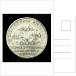 Counter commemorating the Wesel, Oswego, Port Mahon and St David captured, 1758; reverse by unknown