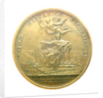 Medal commemorating the action off Malaga, 1704; reverse by J.A. Meisonie