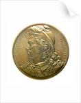 Medal commemorating Admiral Anne Hilarion de Contentin, Comte de Tourville (1642-1701); obverse by J.A. Pingret