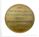 Medal commemorating Admiral de Suffren (1726-1788); reverse by J.J. Barre