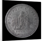 Medal commemorating the siege of Paris, 1870-1871 and death of Lieutenant Edgard Saisset; obverse by unknown