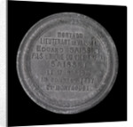 Medal commemorating the siege of Paris, 1870-1871 and death of Lieutenant Edgard Saisset; reverse by unknown