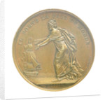 Medal commemorating Louis XVIII landing at Calais, 1814; reverse by B. Andrieu; N.G. Brenet