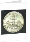 Medal commemorating the action off Cape Passaro, 1718; reverse by J. Croker
